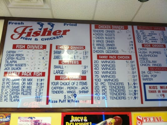 fisher fish chicken kycklingvingar 5620 michigan rd