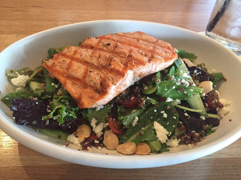 Mediterranean Quinoa Salad With Salmon. A Very Hearty