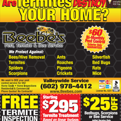 Pest Control Phoenix  Photo of Beebe's Pest Control - Phoenix, AZ, United States. Termites eating your