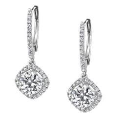 Photo Of Diamonds Above Austin Tx United States Diamond Halo Dangle Earrings
