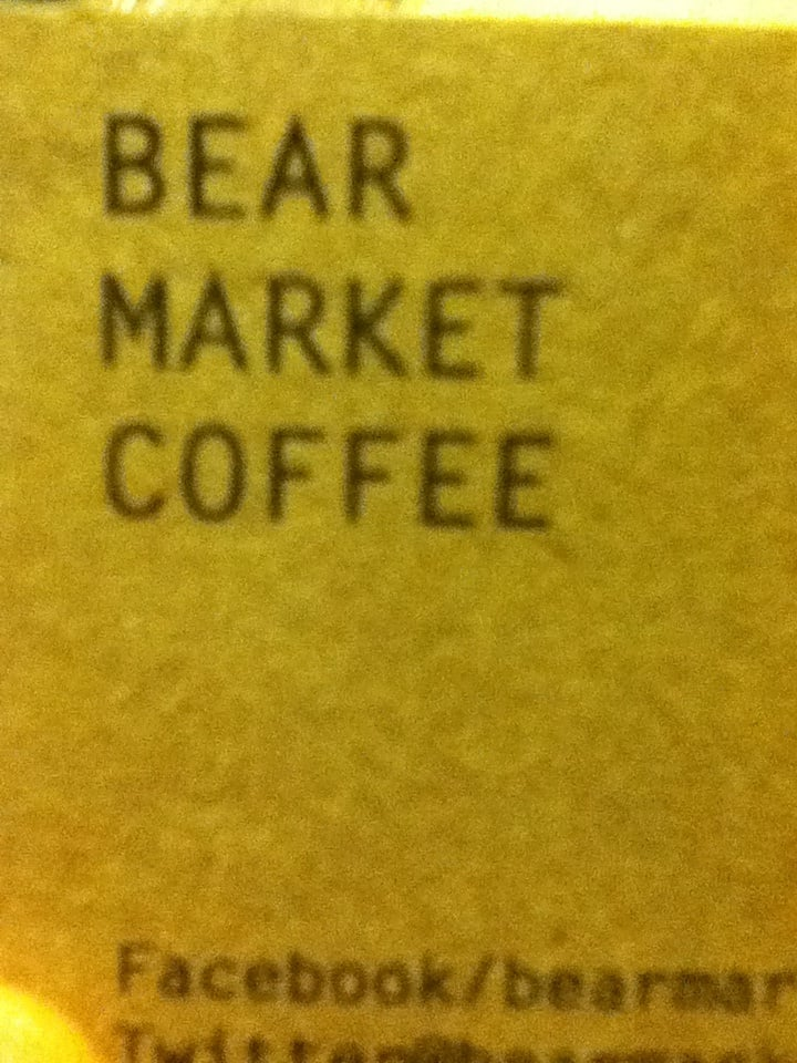 Business card with what i assume is a limited free coffee token photo of bear market coffee blackrock co dublin republic of ireland reheart Gallery