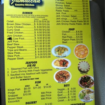 Photo Of Jamaican Country Kitchen Hyattsville Md United States Menu