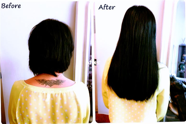 Remy extensions for short hair applied by areta at the for Hair salon perfect first essential