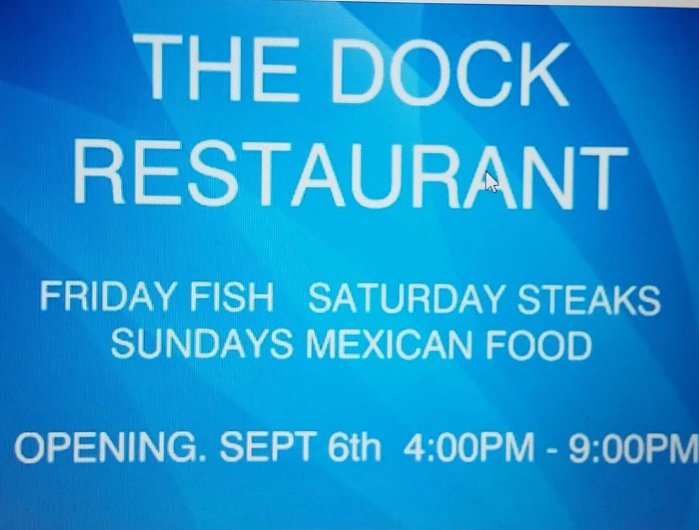 Dock Restaurant: 150341 Del Rey Dr, Big River, CA
