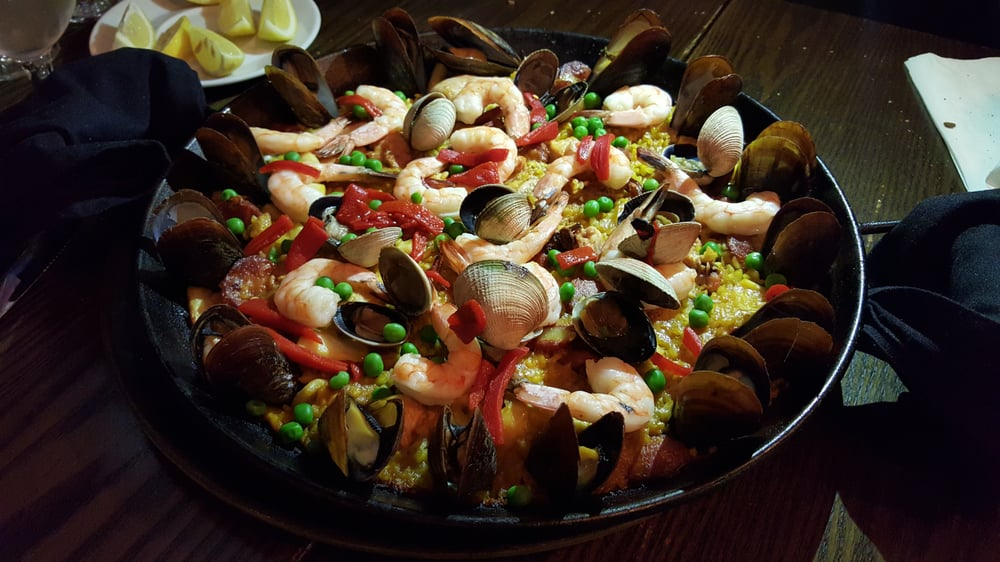 Photo of La Nacional Tapas Bar - New York, NY, United States. Paella la Nacional - add chorizo