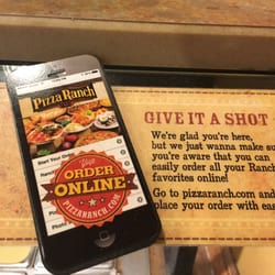 Order online and read reviews from Pizza Ranch at W Burlington Ave in Fairfield from trusted Fairfield restaurant reviewers. Includes the menu, user reviews, 4 photos, and 95 dishes from Pizza Ranch.