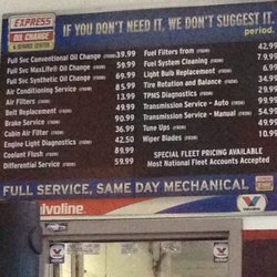 Express Oil Change Prices Latest Car Release Date