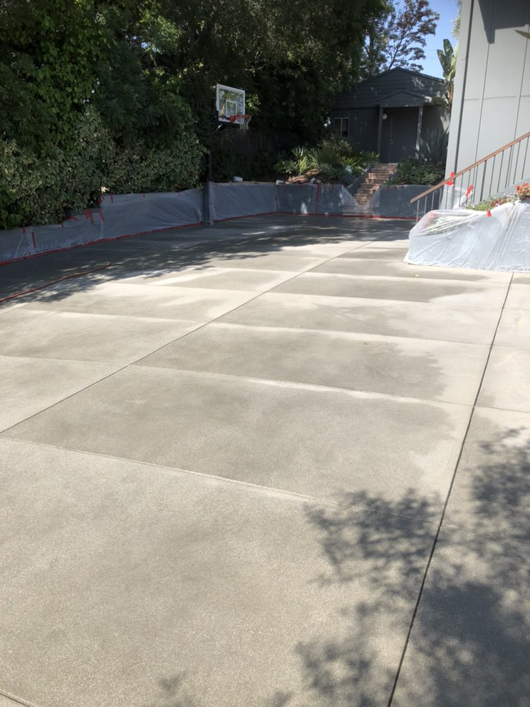 Sand finish concrete driveway Studio City - Yelp
