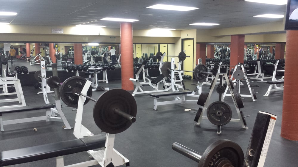 Main gym free weight area yelp