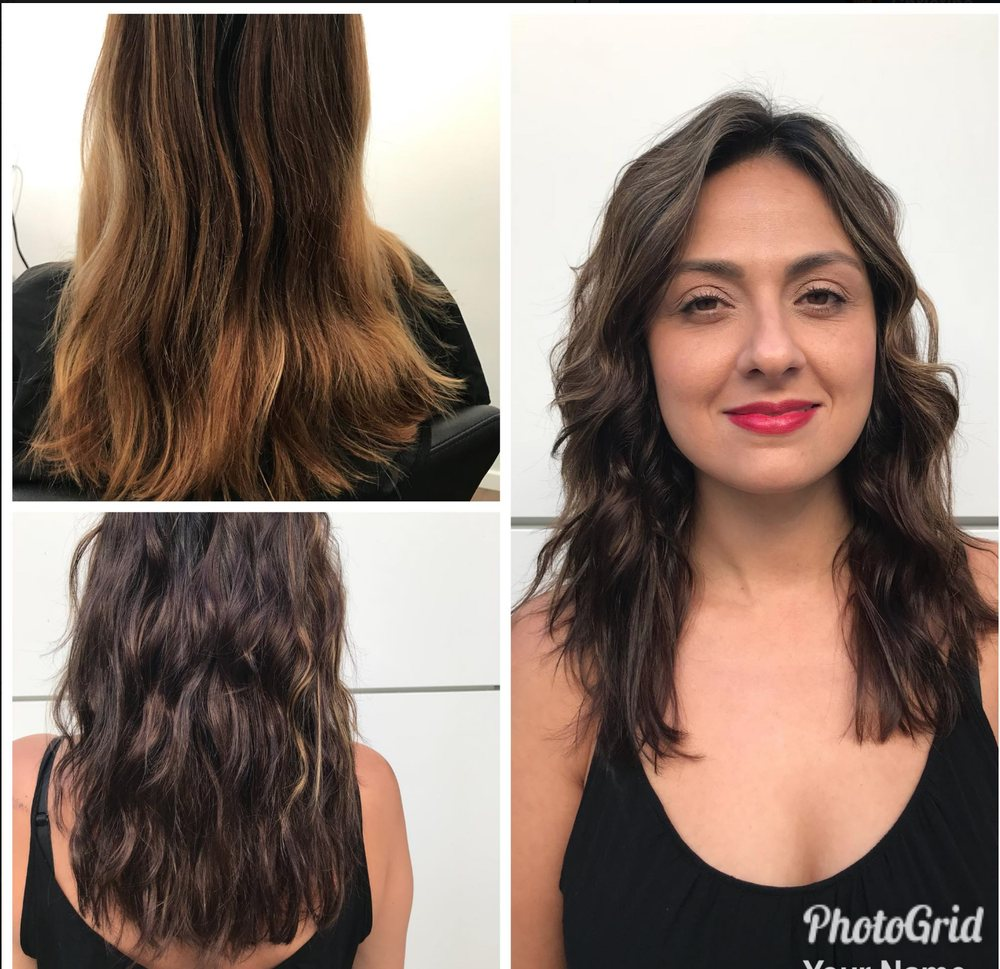 Womens Hair Glaze To Add Shine And Change The Color Using Shades