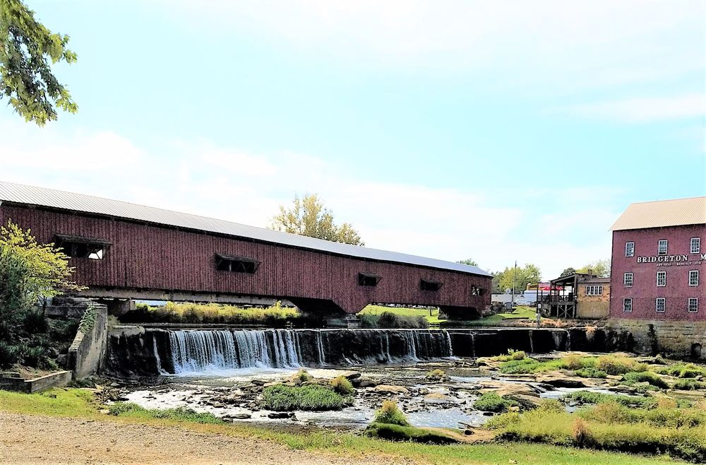 Old Mill Park and Covered Bridge: Bridgeton, IN