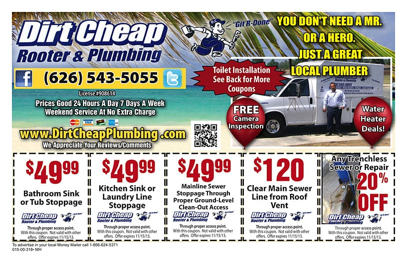 Dirt Cheap Plumbing: 14632 Van Wig Ave And Channing, Baldwin Park, CA