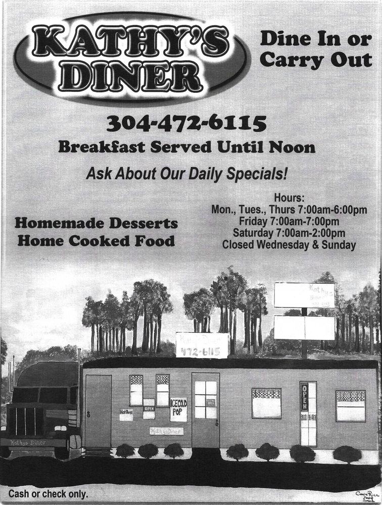 Kathy's Diner: 39 Martin St, Buckhannon, WV
