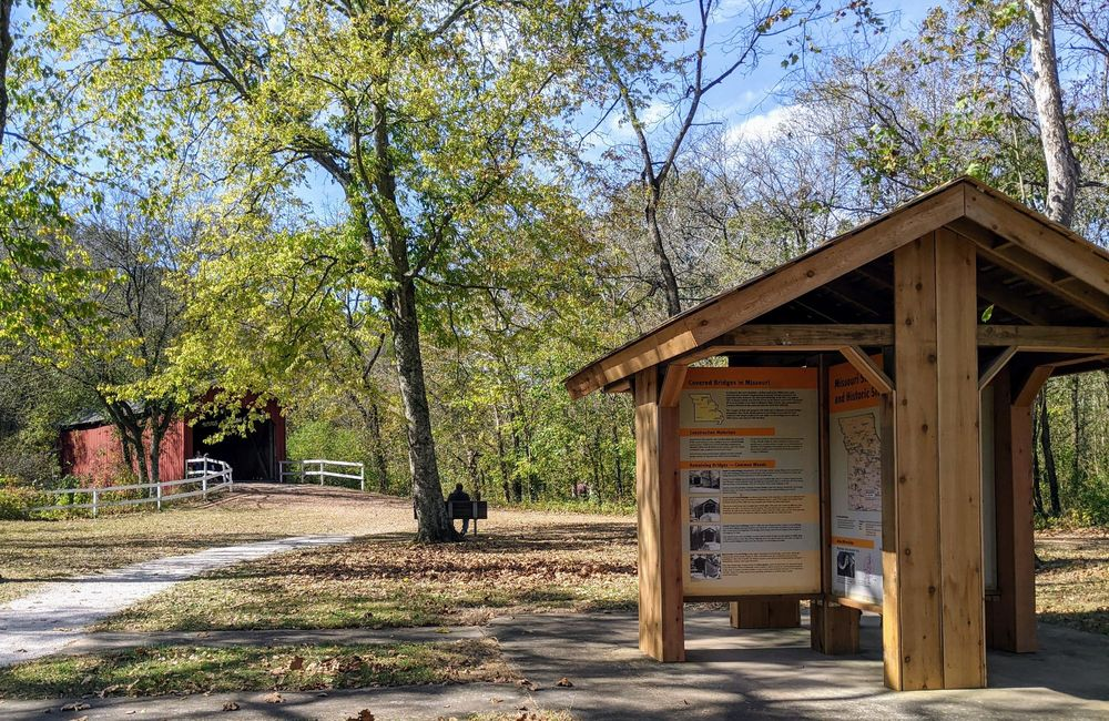 Sandy Creek Covered Bridge State Historical Site: 9001 Old Lemay Ferry Rd, Hillsboro, MO