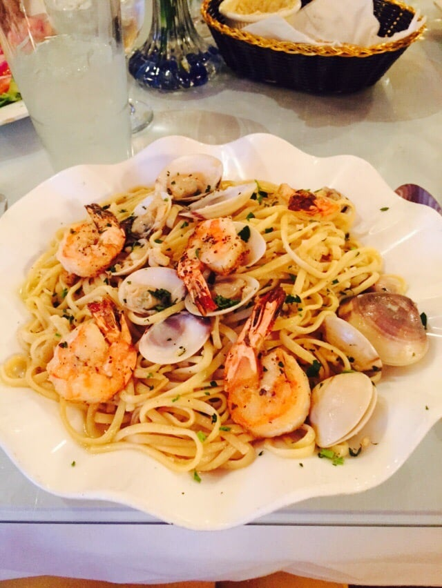 Pasta with clam sauce and shrimp yelp for Athena mediterranean cuisine