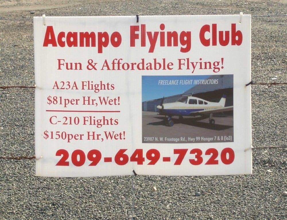 Acampo Flying Club: 23987 N Hwy 99, Acampo, CA