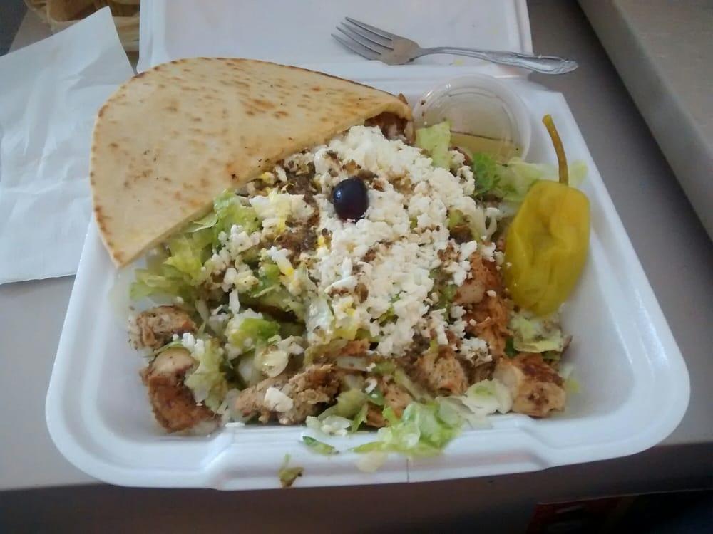 Open faced chicken souvlaki salad - Yelp