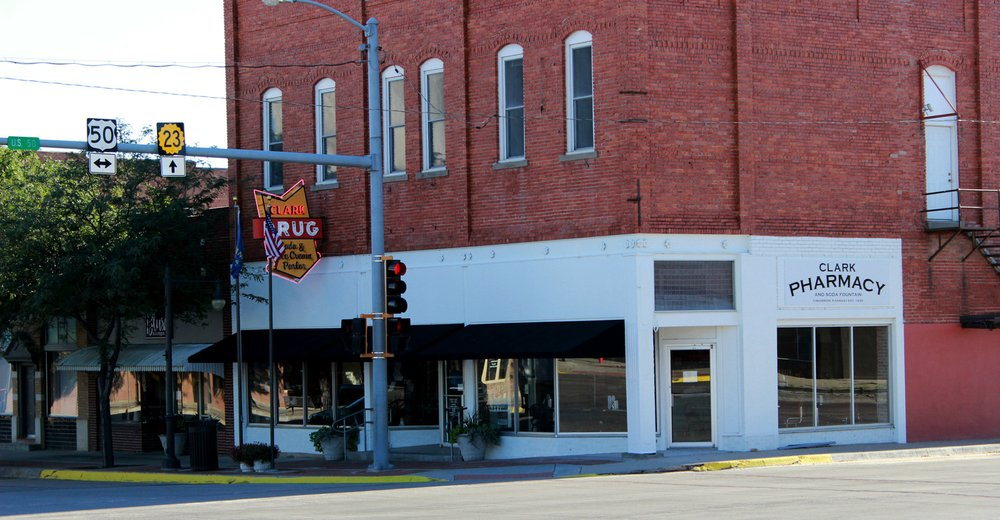 Clark Pharmacy: 104 S Main St, Cimarron, KS