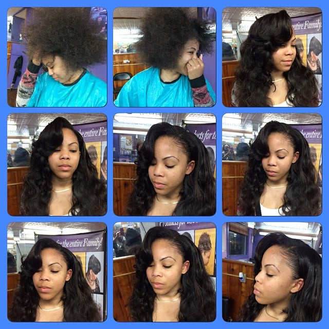 affordable styles hair salon before and after of sew in weave yelp 1136