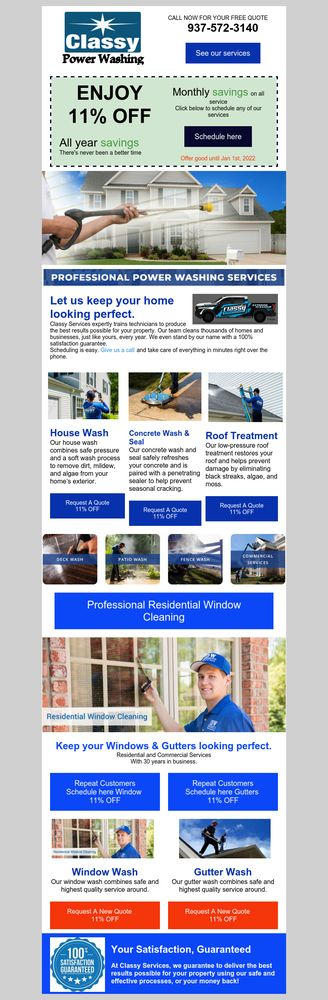 Classy Window & Gutter Cleaning: 1601 Grange Hall Rd, Beavercreek, OH