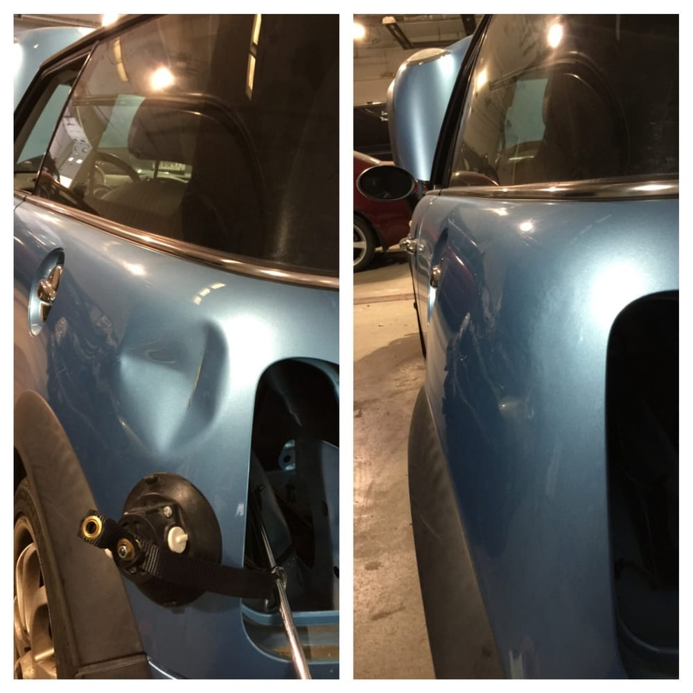 1 Affordable Best Mobile Auto Paintless Dent Repair Pdr: Before And After, Largest Dent Of 6 In My Car. Thank You