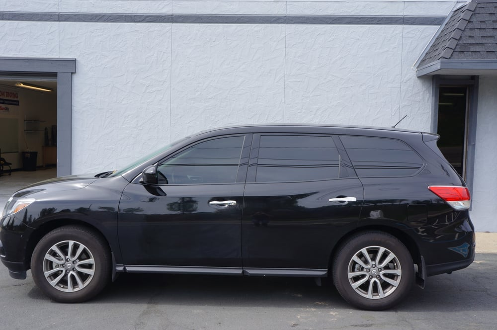 2014 nissan pathfinder 20 on rear over the factory tint for 2 for 1 window tinting