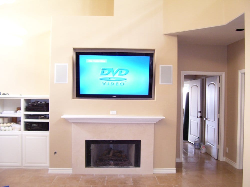 50 Quot Flat Panel Samsung Plasma Tv Installation Over