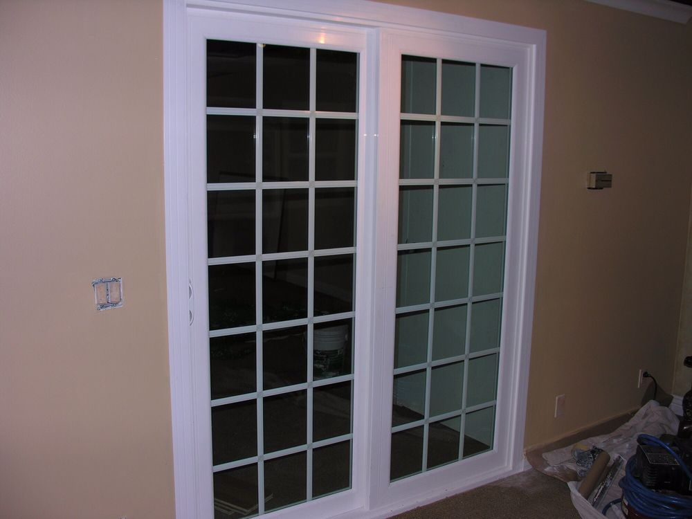 French Rail Sliding Patio Door With 1 Euro Colonial Grids Yelp