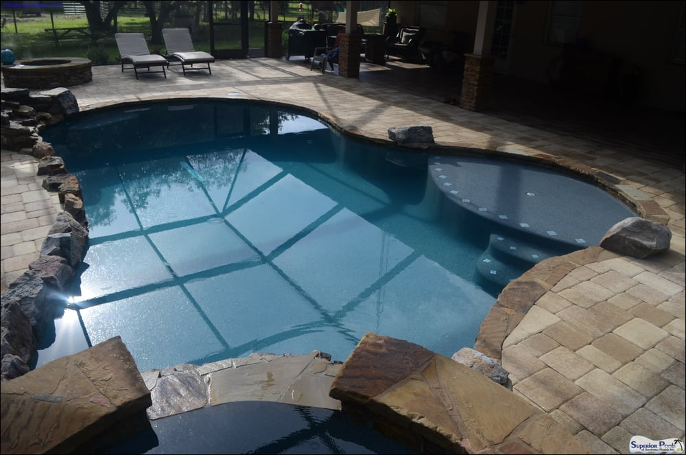 Custom Rock Swimming Pool By Superior Pools With Large