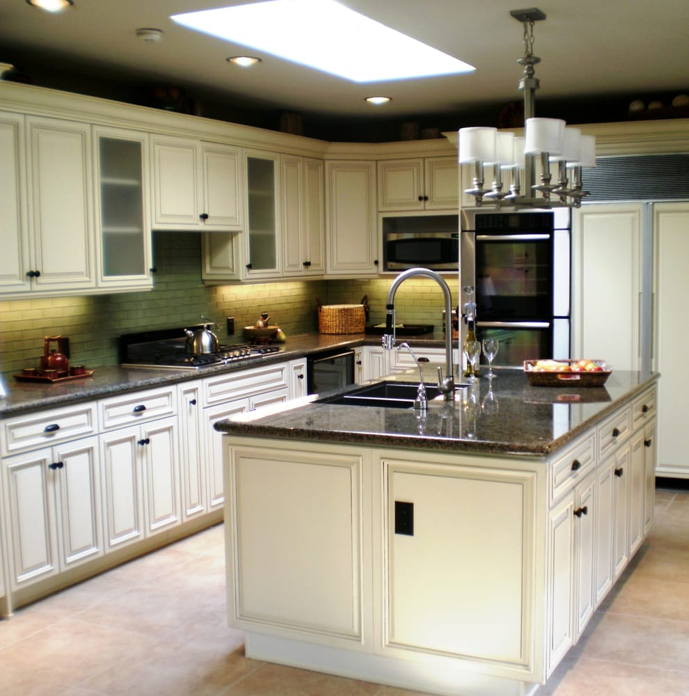 Vintage Kitchen Yelp: Mrs D's New Kitchen, White Antique Cabinets, Granite