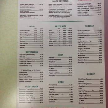 Photo Of Yeung Ming Chinese Restaurant Homestead Fl United States Menu