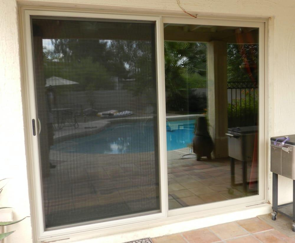 Simonton Sliding Doors >> Simonton Madeira Sliding contemporary style door, Tan ...