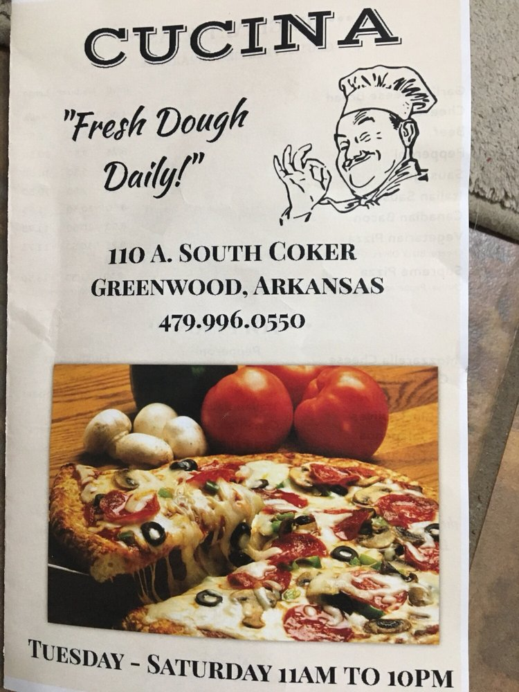 Cucina: 110 S Coker St, Greenwood, AR