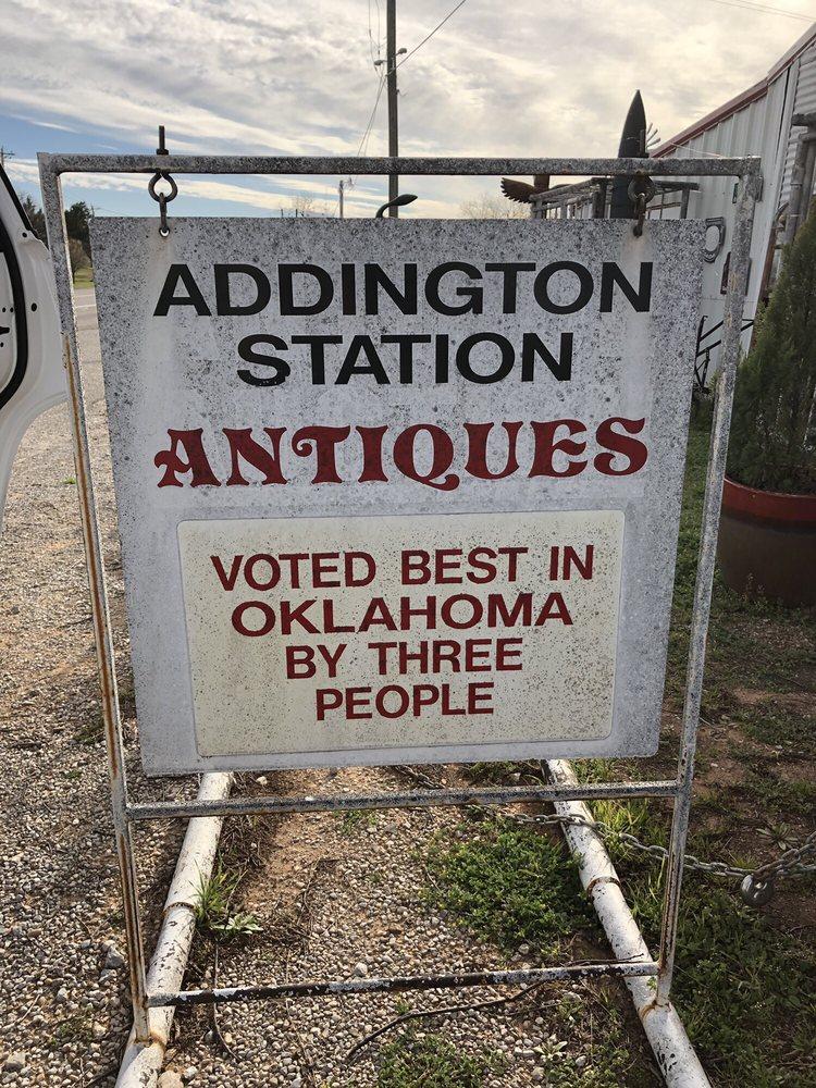 Addington Station Antique: US 81 & Purdy, Addington, OK