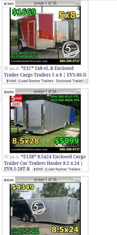 Posting Load Runner Trailers Craigslist Yelp