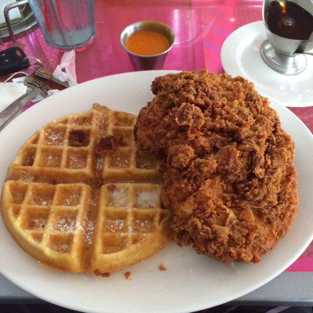 Photo Of Pink Miami Beach Fl United States En And Waffle