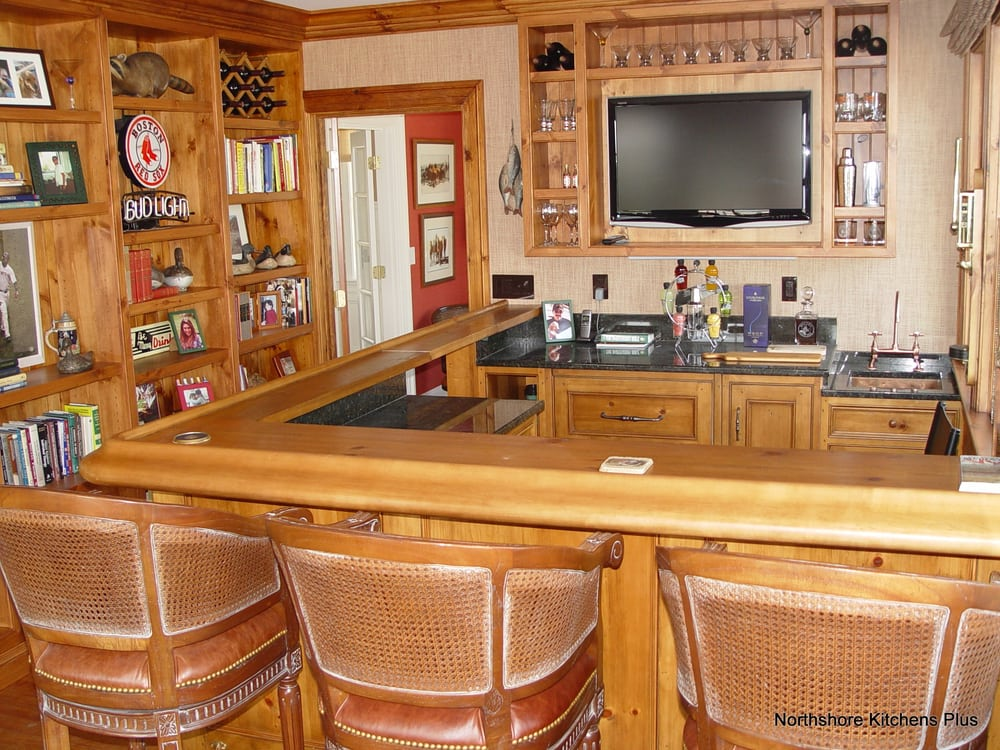 Custom Bar With Sevice Hinged Lift Up Wood Bar Top Is