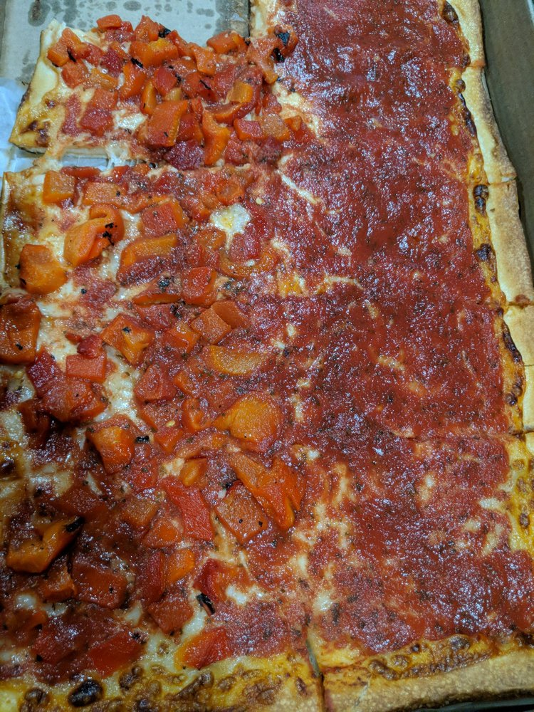 Food from Joe Santucci's Square Pizza