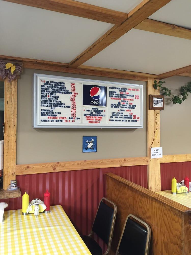 Von's Cafe: 607 3rd Ave E, Eureka, MT