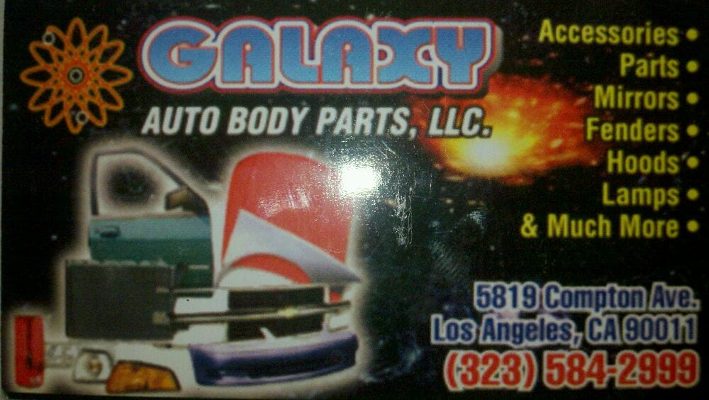 Front business card yelp photo of galaxy new used auto body parts los angeles ca united reheart Choice Image