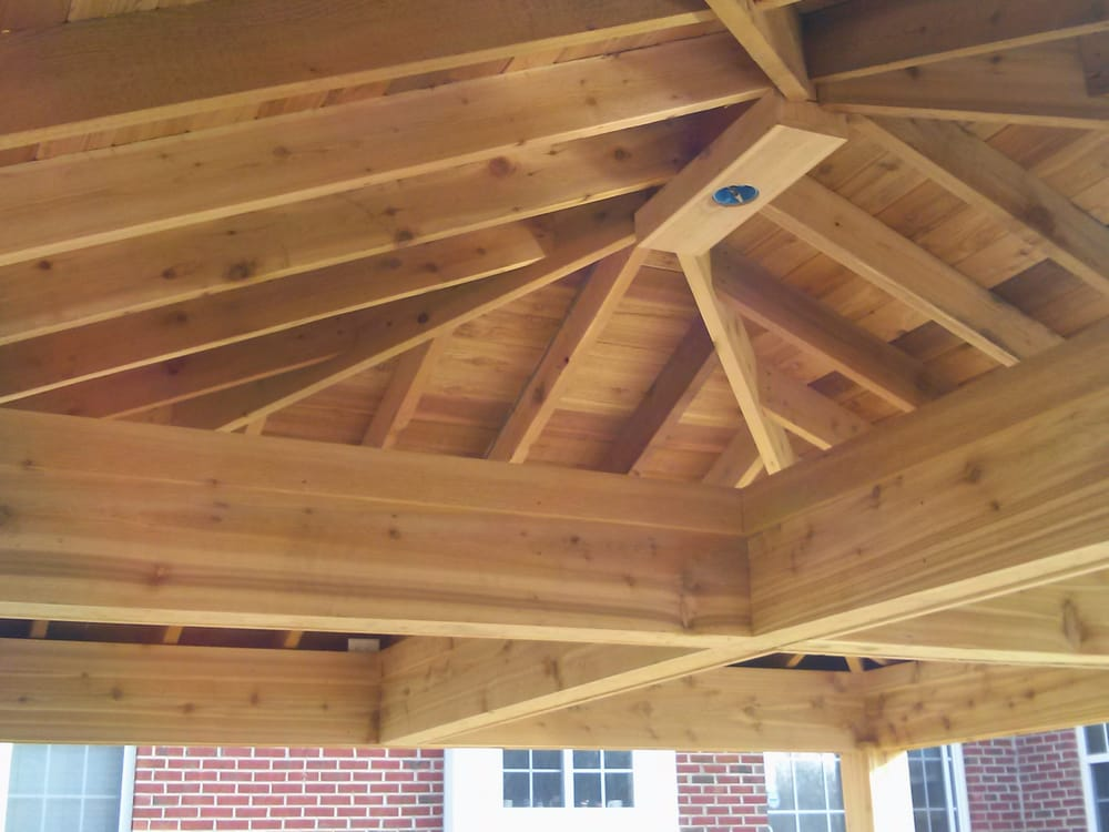 Photo Of Man Construction Whitestown In United States Outdoor Hip Roof Pergola