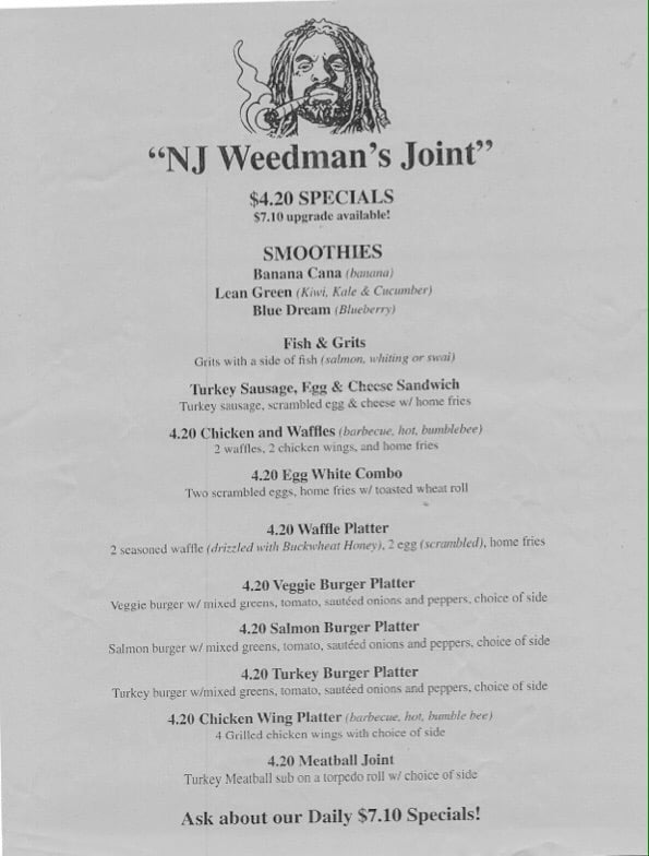 Weedman's menu - Yelp
