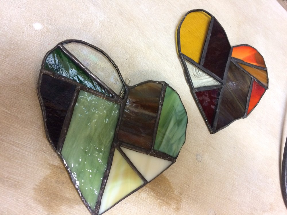 Stained Glass Hearts Made In Our Class Yelp