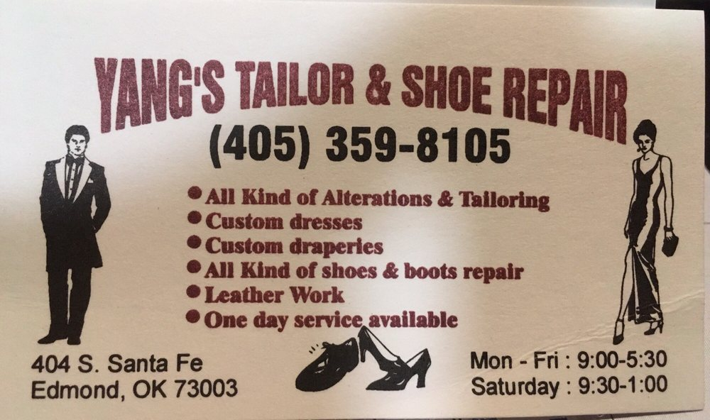 Photo Of Yangs Tailor Shoe Repair Edmond Ok United States Business