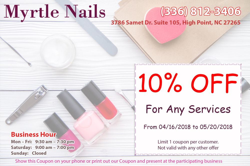 High point nail salon gift cards north carolina giftly myrtle nails 3786 samet dr high point nc reheart Image collections