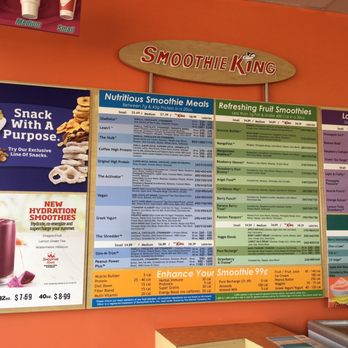 photograph regarding Smoothie King Printable Coupons titled Smoothie king charges menu : Elements towards do san jose this weekend