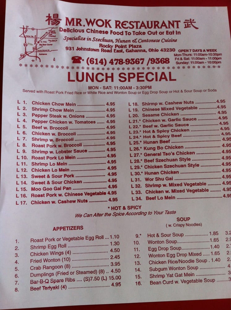 Magic Wok Restaurant Menu