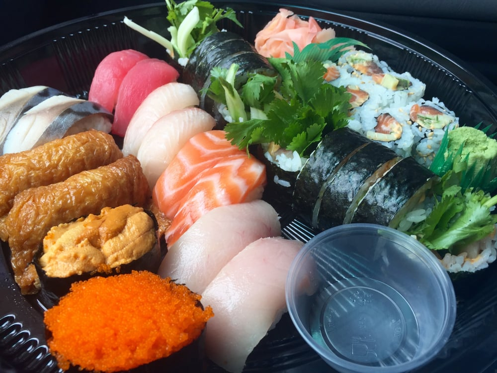 All this glorious sushi for thirty seven fiddy yelp for Lawrence fish market