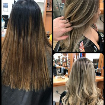 Ash,Blonde ombré balayage hair color by Long , Yelp
