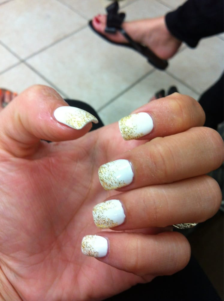 My Fill With White And Gold Glitter Ombré 15 Yelp